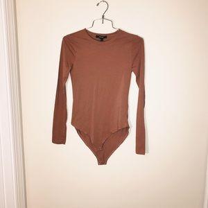 Orange mauve bodysuit size Small Forever 21 NWT
